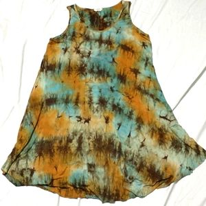 Oddy Tie-Dye Tee Shirt Dress